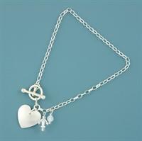 Picture of Aluminium Round Heart Toggle Bracelet
