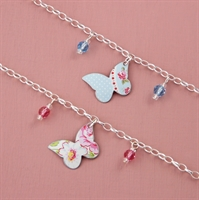 Picture of Child's Butterfly & Crystal Bracelet
