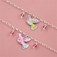 Picture of Child's Dove & Crystal Bracelet