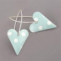 Picture of Spotty Medium Heart Earrings (Medium Earwires)