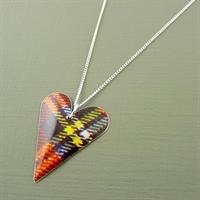 Picture of Tartan Medium Slim Heart Necklace