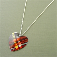 Picture of Tartan Round Heart Necklace