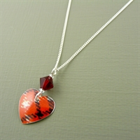 Picture of Tartan Small Round Heart & Crystal Necklace
