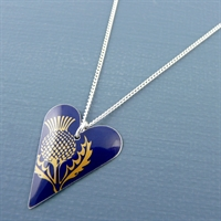 Picture of Thistle Slim Heart Pendant