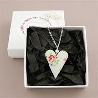 Picture of Spring Medium Heart & Pearl Necklace