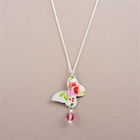 Picture of Spring Butterfly & Crystal Necklace