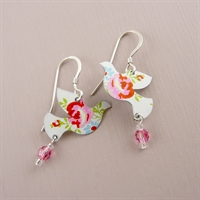 Picture of Spring Dove & Crystal Earrings