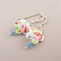 Picture of Spring Flower & Crystal Earrings SP-E57
