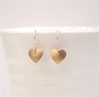 Picture of Copper Rose Round Heart Earrings JE1-CR