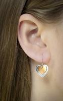 Picture of  Copper Rose Double Heart Earrings JE25