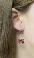 Picture of Tartan Butterfly Earrings (medium earwires) JE-E01T