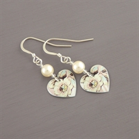 Picture of Emily Jane Floral Small Round Heart Earrings