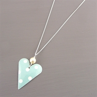 Picture of Emily Jane Spotty Slim Heart & Pearl Necklace JS1B