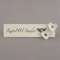 Picture of Emily Jane Round Heart Studs Ivory