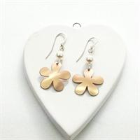 Picture of Copper Rose Flower & Pearl Earrings JE49B