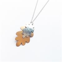 Picture of Copper Rose Aluminium Oak Leaf Necklace JS18-CR