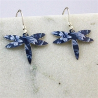 Picture of Denim Petite Dragonfly Earrings JE22-bd